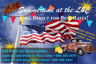Lewis_&_Clark_Motel Bozeman Summer Lodging Specials