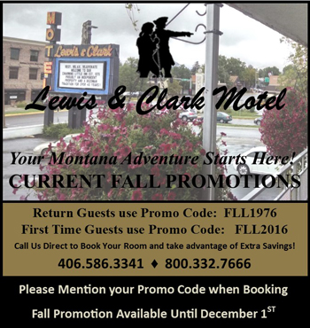 Lewis & Clark Motel Bozeman Fall Promotions